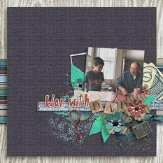 Layout by Penny using D Is For Dad - Burlap Stack