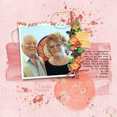 Layout by Kathryn using ScrapSimple Paper Templates: Give Me Texture 01 & The Sweetest Days
