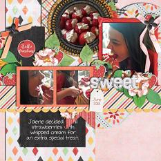 Layout by Joanna using The Sweetest Days - Collection Biggie