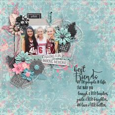 Layout by Kathryn using #BestFriends - Messy Accents