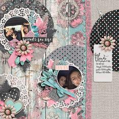 Layout by Joanna using #BestFriends - Wood-grains
