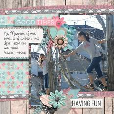 Layout by Penny using #BestFriends - Wood-grains