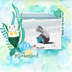 Scrapbook page using Under the Sea Digital Papers