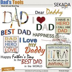 Dad's Tools Word Art and Word Tag