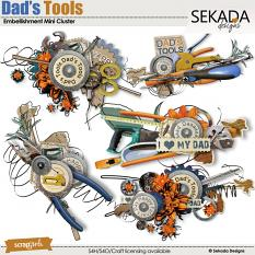 Dad's Tools Embellishment Mini Cluster