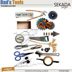 Dad's Tools Embellishment Mini