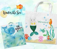 Under the Sea Card and tote bag