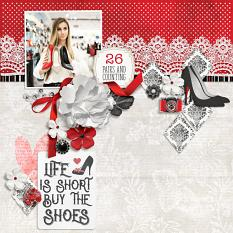 """""""26 Pairs and Counting"""" digital scrapbook layout by Darryl Beers"""