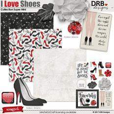 I Love Shoes Collection Super Mini by DRB Designs | ScrapGirls
