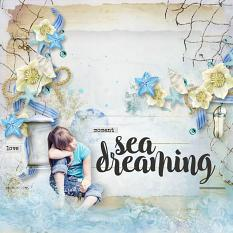 layout using Sea Sun Embellishment Mini: Cluster Pack 2 by florju designs