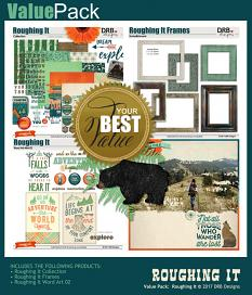 Value Pack: Roughing It by DRB Designs | ScrapGirls.com