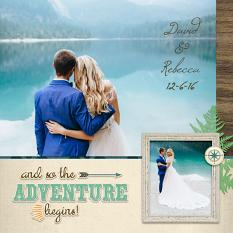 """David & Rebecca"" digital scrapbook layout by Darryl Beers"
