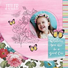 """Julie"" digital scrapbook layout by Darryl Beers"