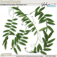 ScrapSimple Embellishment Templates: Wild Weeds Vol. 2