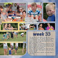 """Family Reunion"" right side digital scrapbook layout features Picnic Collection Mini"