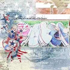 layout using Value Pack: Stars and Stripes