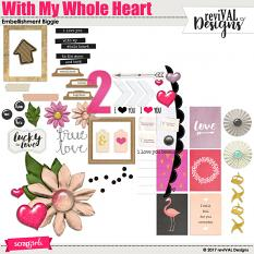 With My Whole Heart embellishment set by Revival Designs