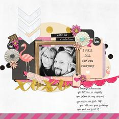 With My Whole Heart layout example by Revival Designs