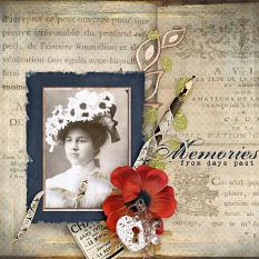 """Memories From The Past"" digital scrapbooking vintage layout by AFT Designs - Amanda Fraijo-Tobin 