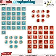 Classic scrapbooking Allpha Mini by Graphia Bella