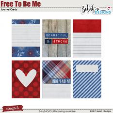 Free To Be Me - Journal Cards