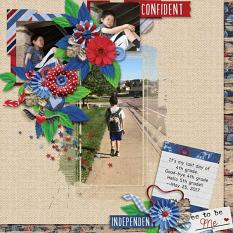 Layout by Penny using  Free To Be Me - Journal Cards