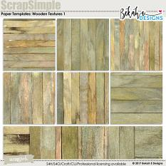 ScrapSimple Embellishment Templates: Wooden Textures 1