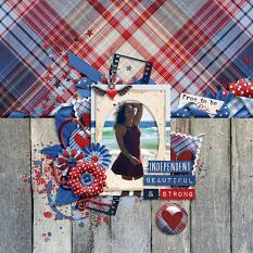 Layout by Bekah using ScrapSimple Embellishment Templates: Wooden Textures 1