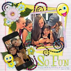 So Fun digital scrapbook layout by Laura Louie