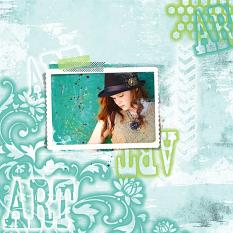 Stenciled Effect Lesson Layout