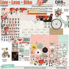 Live • Love • Bike Collection by DRB Designs | ScrapGirls.com