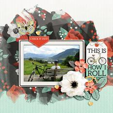 """This is How I Roll"" digital scrapbook layout by Darryl Beers"
