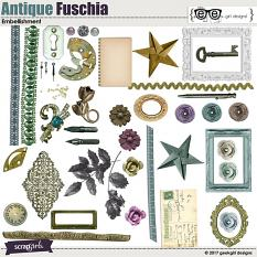 Antique Fuschia Embellishments
