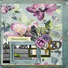 Layout created by Christine Parsell using Antique Fuschia