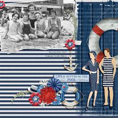"""""""1957"""" Digital Scrapbooking Layout By Andrea Hutton"""