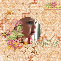 Digital Scrapbooking Layout by Andrea Hutton