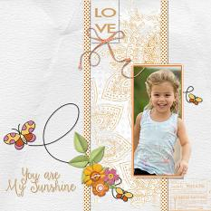 Digital Scrapbooking Layout by Geraldine Touitou