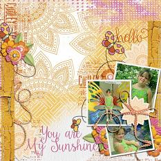 Digital Scrapbooking Layout by Vikkie Lamar