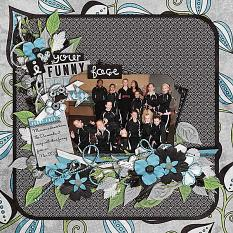 Layout by Joanna using Funny Face - Journal Cards