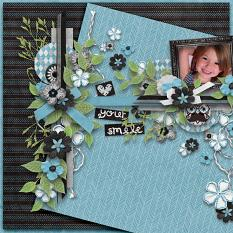 Layout by Blondy using Funny Face - Collection