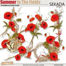 Summer In The Fields Embellishment Mini Cluster