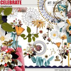 Celebrate Digital Scrapbooking Embellishments by Amanda Fraijo-Tobin - AFT Designs @ScrapGirls.com
