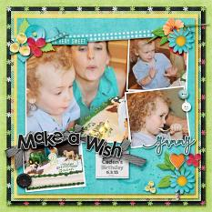 Layout by Kathryn using Cool Summer Treats - Collection Biggie