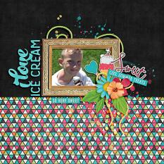 Layout by Bekah using Cool Summer Treats - Collection Biggie