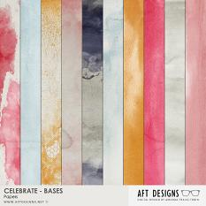 Celebrate - Bases Digital Scrapbooking Papers by AFT Designs - Amanda Fraijo-Tobin @ScrapGirls.com