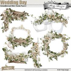 Wedding Day Embellishment Mini: Cluster Pack 2 by florju designs
