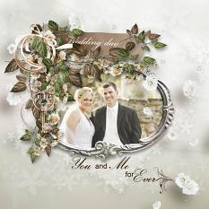 layout using Wedding Day Embellishment Mini: Cluster Pack 2 by florju designs