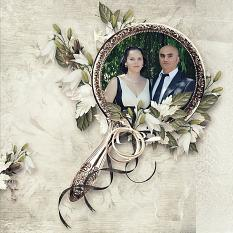 layout using Wedding Day Embellishment Biggie by florju designs