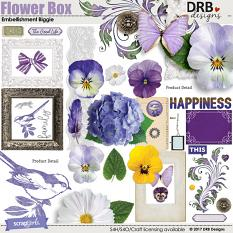 Flower Box Embellishment by DRB Design | ScrapGirls.com