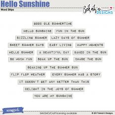 Hello Sunshine - Wordstrips